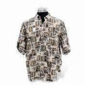 Men's casual shirts ,Material cotton fabric ,Short sleeves with cuff